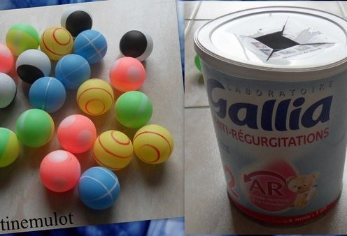 Balles de ping pong pour un