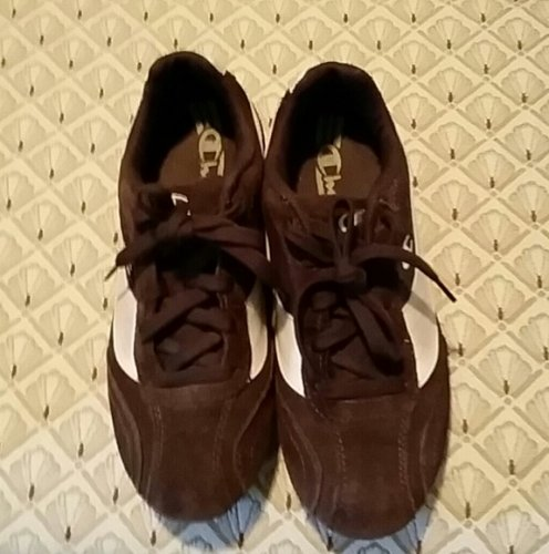 Brown and Tan suede tennis