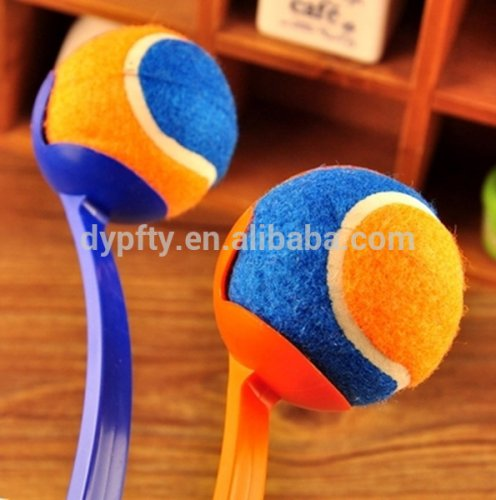 Colorful tennis ball launcher
