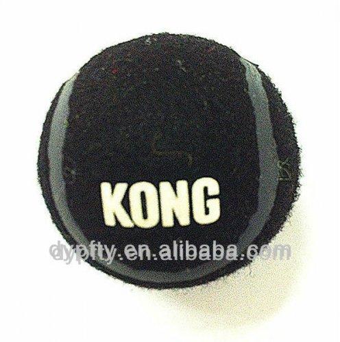 Printed black tennis balls
