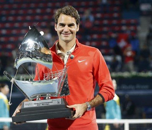Roger Federer wins Dubai Duty