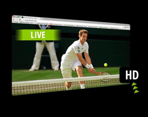 HD streaming tennis