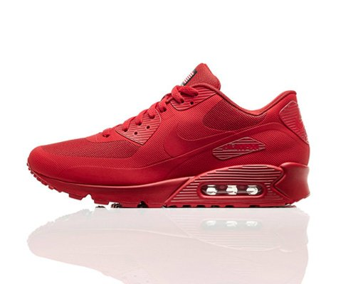 All-red sneakers became an