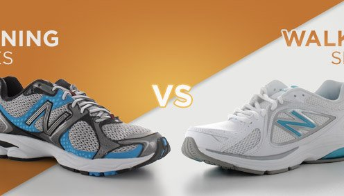 Walking shoes vs. running