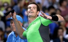 Andy Murray celebrates on his way to his third straight-sets win of the week in Melbourne in the third round