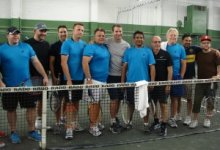 Celeb Chef Tennis Players Behind Net Final