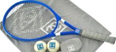 Chanel tennis racket blue