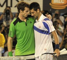 Falling at the final hurdle: Murray lost last year's final to Novak Djokovic