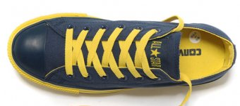 Yellow tennis shoes Chuck Taylor
