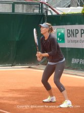 Maria Sharapova in her subtle & stylish practice outfit