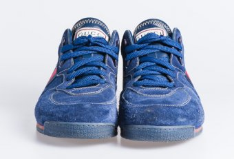 Blue Suede tennis shoes