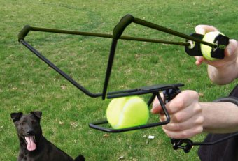 Dog tennis ball slingshot
