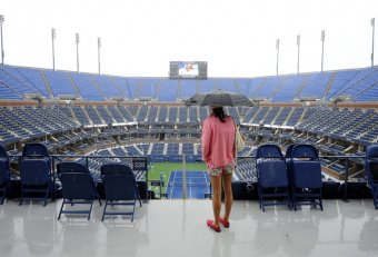 US Open Tennis and rain
