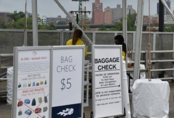 US Open Tennis baggage check