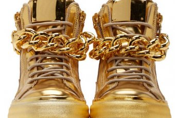 Wedge tennis shoes Gold