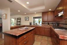 Updated kitchen in this mini estate in Rancho Mirage,  CA