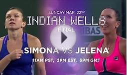 2015 Indian Wells Final Preview | Simona Halep vs Jelena