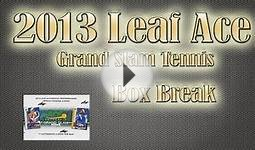 2013 Leaf Ace Authentic Grand Slam Tennis Hobby Box Break
