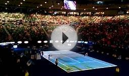 Australian Open - Tennis Court Projection/Introduction