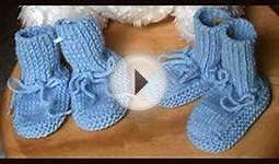 Baby Knit Booties Pattern