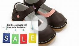 Clearance Sales! Girl Squeaky/Dress Shoes Brown Pink heart