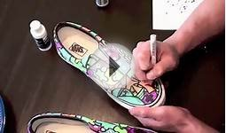 Custom Shoes: Sloth Custom Vans (Time lapsed)