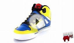 DC Spartan High Kids Shoes - Blue/Yellow - Skatehut