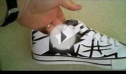 Eddie Van Halen EVH White/Black Low-Top Tennis Shoes