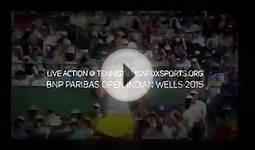 federer and raonic - sf indian wells masters tennis 2015