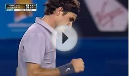Federer Breaks Tomic 2013 Australian Open