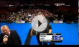 Grand Slam of Darts 2011 Semi- Finals Taylor vs Lewis pt 1