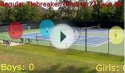 How to play a tennis tie breaker (Doubles) (High School