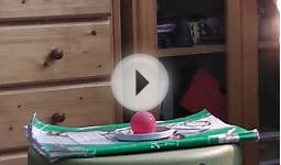 Igniting table tennis ball - BIG FIRE!(my house