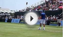 Jack Sock at the Hall of Fame Tennis Championships in
