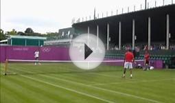 London 2012 Olympics - Tennis - Djokovic Practice 2