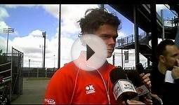 Milos Raonic on Canada vs. South Africa Davis Cup tie