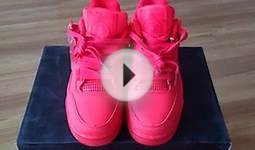 Nike Air Jordan 4 Womens Shoes All Red sports.cn