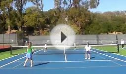 Orange Ball Doubles Point at Future Tennis Champs Tournament