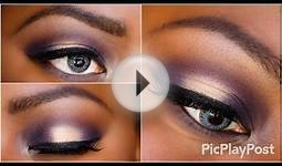 Purple and Gold eyeshadow tutorial Sigma Beauty Fall