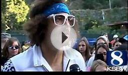 Redfoo lost a US Open tennis qualifier in borrowed sneakers