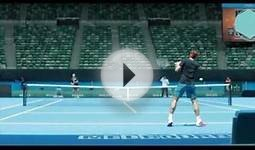 Roger Federer Collects His Pass and Practice - Australian