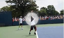 Roger Federer Serve - 2013 Cincinnati Open