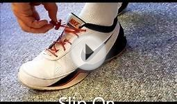 Slip On Slip Off Tennis Shoes using Tieless Lace Lock