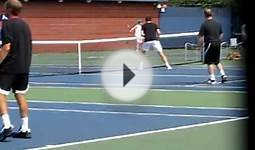 Soccer Practice on the Tennis Courts of the US Open