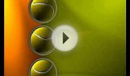 Tennis Balls Video Background TVSD435 , Free 3d Motion