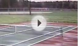 tennis practice Mathews High School, VA USA 1989