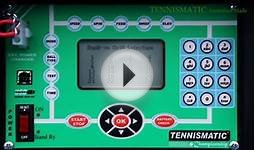 TENNISMATIC tennis ball machine Introductory & Review Videos