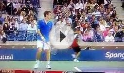 US Open Ball Boy Eats It