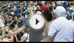 US Open Fight - Old Man & Lady Brawl w/ Jerk at Tennis Match