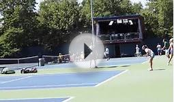 US Open Winner rafael Nadal & Roger Federer practicing
